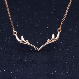Jewelry - Rosy Gold Antlers Necklace / (OS) NWT!!